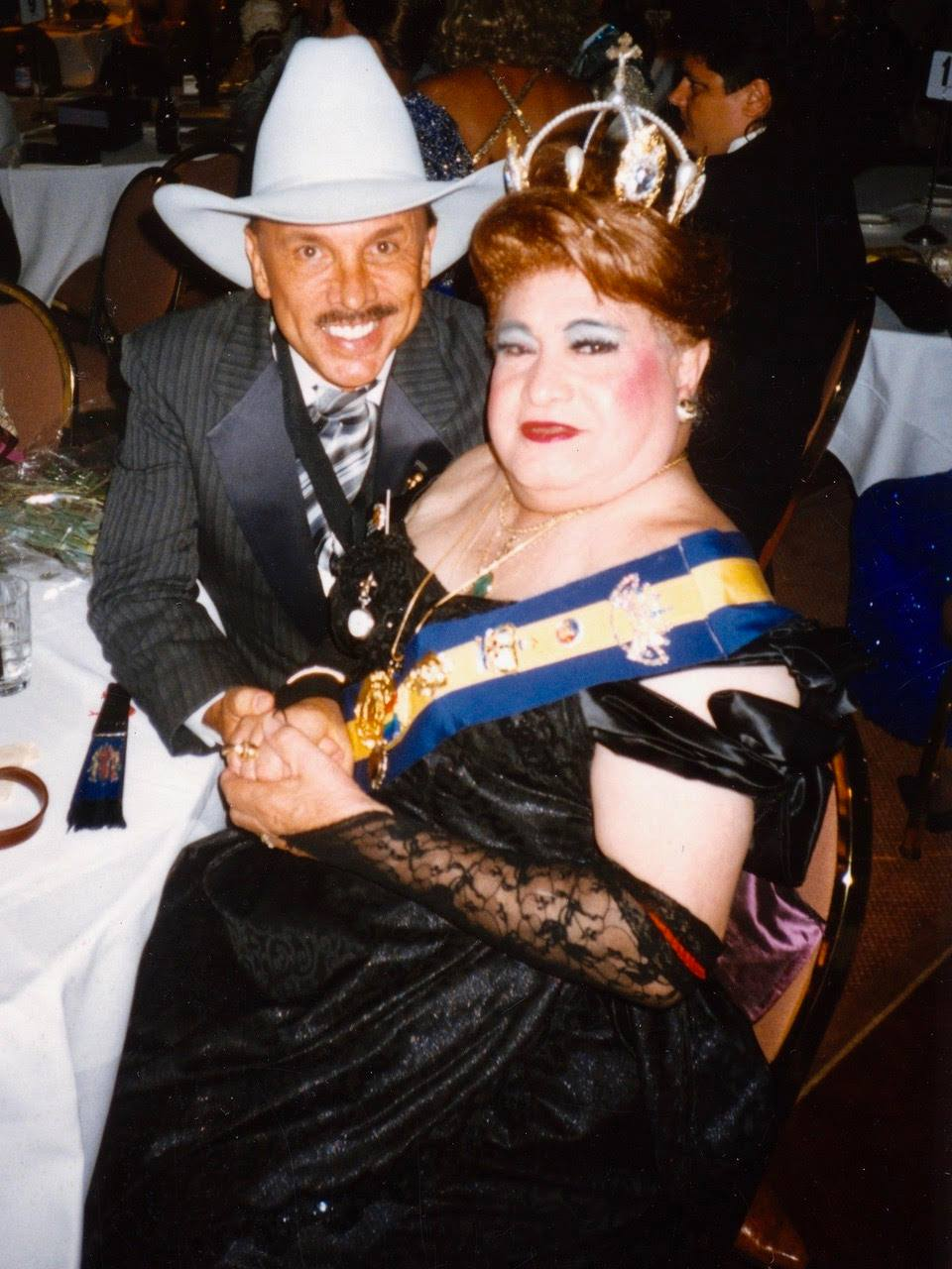 Mama Jose with Terry Sidie at SF Ducal Ball 1998
