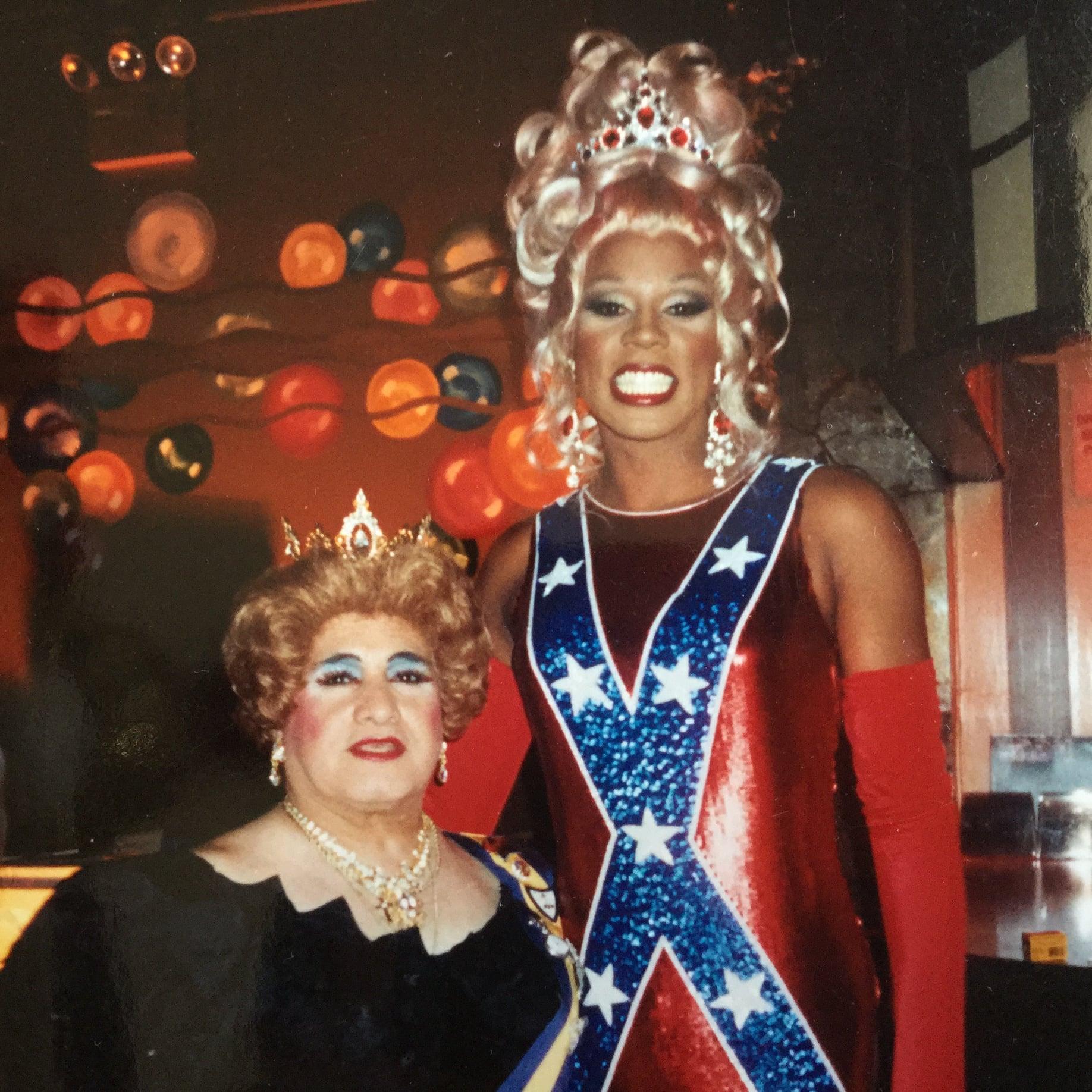 Mama Jose posing with RuPaul 1994